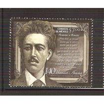 2013 140 Aniv Luctuoso Poeta Manuel Acuña Sello Mnh