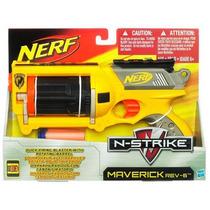 Jogo Nerf N- Strike - Maverick Rev-6 Mod 28418 Hasbro