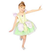 Fantasia Fada Tinkerbell Luxo Rubies - Tamanho P 3 - 4 Anos