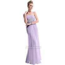 Vestido Feminino Festa Formatura Casamento Longo Lilás