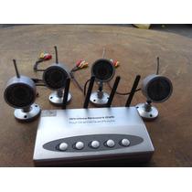 Sistema De 4 Cámaras Inalámbricas Con Receptor Audio Y Video