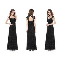 Vestido Encaje Negro Lentejuelas Divina Espalda Moda Pasión