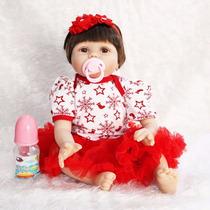 Bonecas Reborn Para Natal 55 Cm Silicone Muito Real Promoção