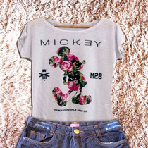 Kit Mãe E Filha T-shirt Camiseta Blusa Mickey Mouse M28