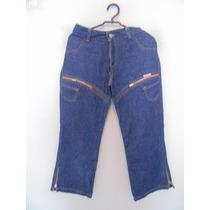 Calca Feminina Jeans Capri Detalhe Zíper Cód. 854