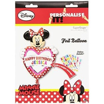 Minnie Mouse Globo Personalizar W / X33 Nombre Feliz Cumpl