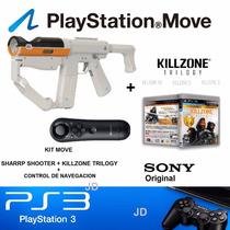 Kit Move Ps3 Sharp Shooter + Killzone Trilogy + Mando Navega