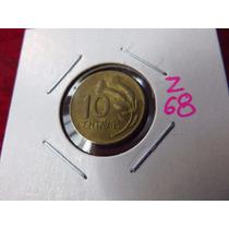 Zz#68 Moneda Del Mundo 10 Centavos Peru 1973