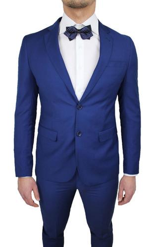 00236afd4fde9 Blazer Destaque Azul Marinho Slim Fit - Italiano - R  269