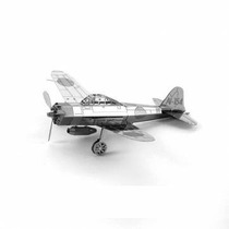 Rompecabezas Miniatura 3d Metálico Avión Z Japonés