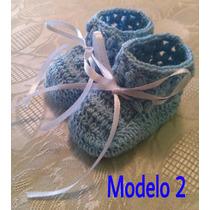 Escarpines Para Bebé Tejidos En Crochet