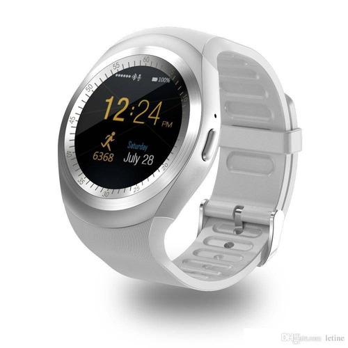 f927cf0b8cb Relógio Smartwatch Y1 Original Celular Inteligente - Branco. - R ...