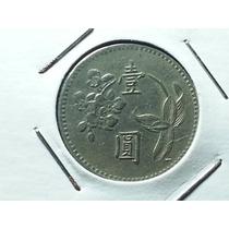 Antiga Moeda De Taiwan 1 Yuan 1975, Linda!