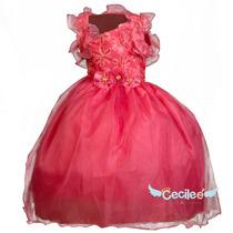 Hemoso Vestido Fiesta Niña Coral Elegante Pajesita Strlla