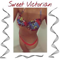 Bikini Sweet Lady Verano 2016 Bando Con Tiras