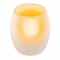 Tres Lamparas Led Tipo Vela Con Flama Cristal Voltech 48410