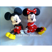 Minnie Y Mickey Mouse Adorno De Torta