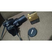 Câmera Nikon P500 Semiprofissional + Pedestal + Bateria Nova