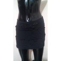 Minifalda Sexy Talla 28 De Licra Negra