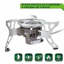 Estufa De Gas Portátil, Súper Equipo De Campismo