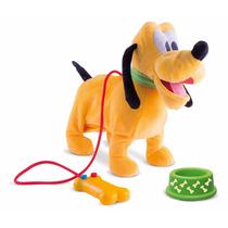 Peluche Pluto Paseos Con Correa Interactivo Disney Sonidos