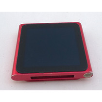 Ipod Nano Vermelho 16gb Rádio 6 Geração Mp3 Corrida - Usado