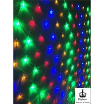 Rede 160 Leds Natal 8 Funçoes Pisca Pisca Colorido 110v