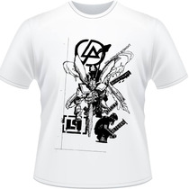 Camiseta Linkin Park Hybrid Theory Rock Papercut Camisa Song