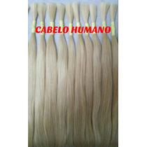 Cabelo Humano Loiro Liso P/mega Hair 70 A 75 Cm 75 Gramas