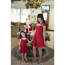 Vestido Infantil Tal Mae Tal Filha Festa Natal E Ano Novo