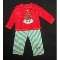 Fashion Classics! Pijama Con Árbol De Navidad Bordado 2 Años