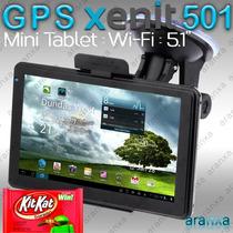 Gps 5.1 Xenit 501 Tablet Pc Android 4.4 Wifi Igo 16gb Quad!
