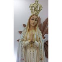 Imagem Nossa Senhora Fátima Peregrina Portugal Olho Vidro