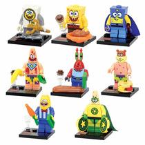 Kit Lego Bob Esponja Com 8 Bonecos - Pronta Entrega