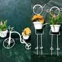 Kit Suporte Para Vaso 2 Bicicletas Varanda/jardim + 1 Casal