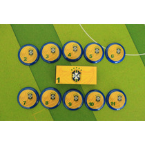 Seleção Brasileira - Brasil Futebol De Botão Retrô