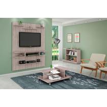 Conjunto Painel Tv, Mesa De Centro E Aparador Sala Vanilla