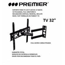 Soporte Tv 17 A 32 Pulg, Full Acero, Extendible, Giratorio