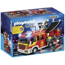 Playmobil 5363 Camion Bomberos Luces Sonido Rescate Retromex