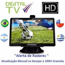 Gps Aquarius Discovery 4.3 Tv Digital Hd Radar Mp3 3d Touch