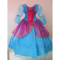 Espectacular Vestido Disfraz De Lujo Barbie De La Isla Tiara
