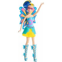 Barbie Princesa Power Mariposa Muñeca Azul