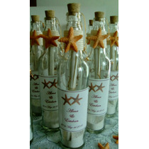 Invitaciónes Estrellas De Mar En Botellas De Cristal