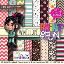 Kit Digital Editavel Scrapbook Vanellope Doces