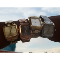 Relogio Unisex Ouro, Prata,bronze, Cores Lisos