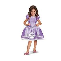 Disfraz De Princesa Sofia Para Niña Talla S - Morado