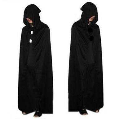 capa preta com capuz manto para fantasia halloween r 69 00 em