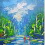 Pintura Óleo Sobre Lienzo Paisaje Bosque Amazónico