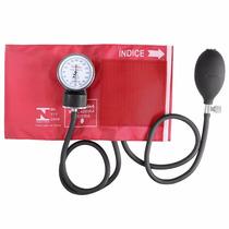Aparelho Medidor D Pressão Esfigmomanômetro Premium Vermelho