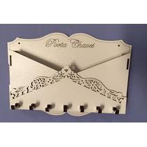 Porta Chaves E Cartas Feito Em Mdf Branco Provençal Madeira